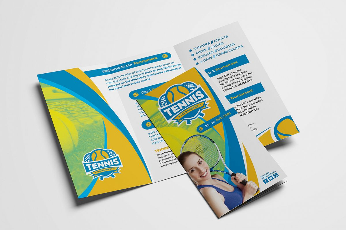 Tennis Tri-Fold Brochure Template example image 1