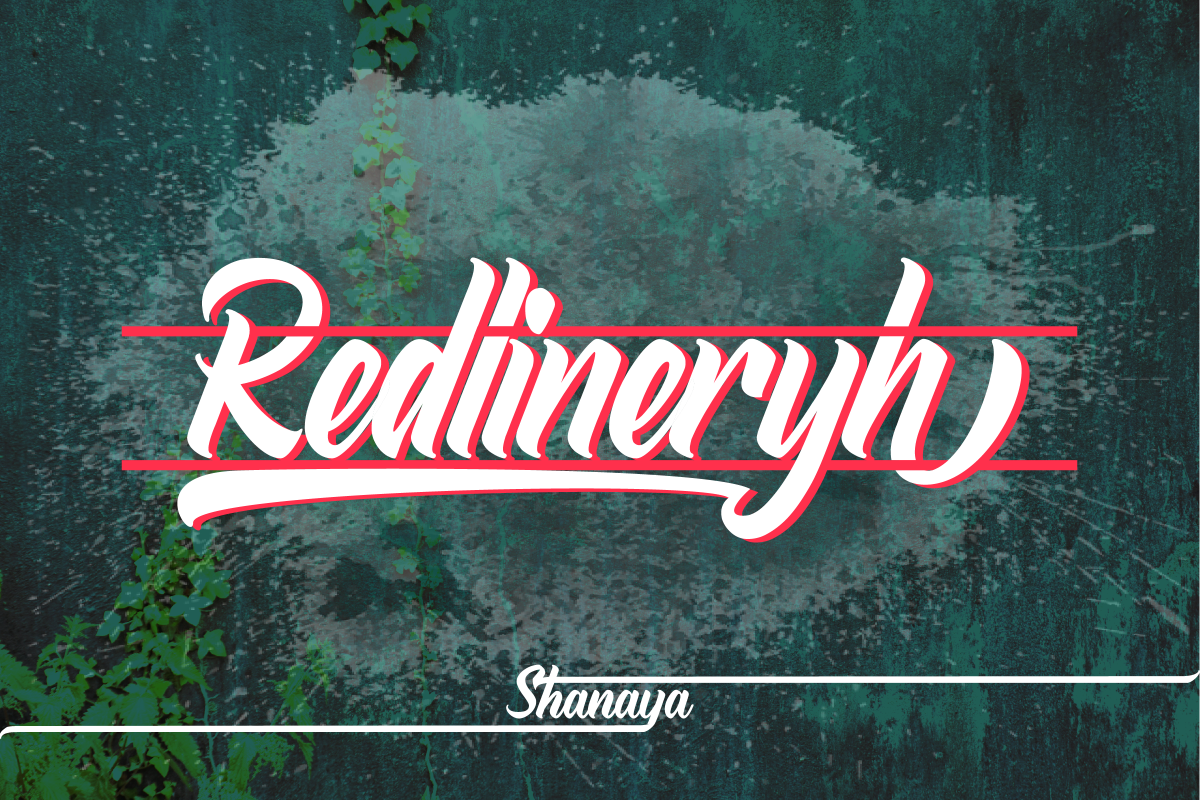 Redlineryh Typeface I EXTENDED LICENSE example image 1