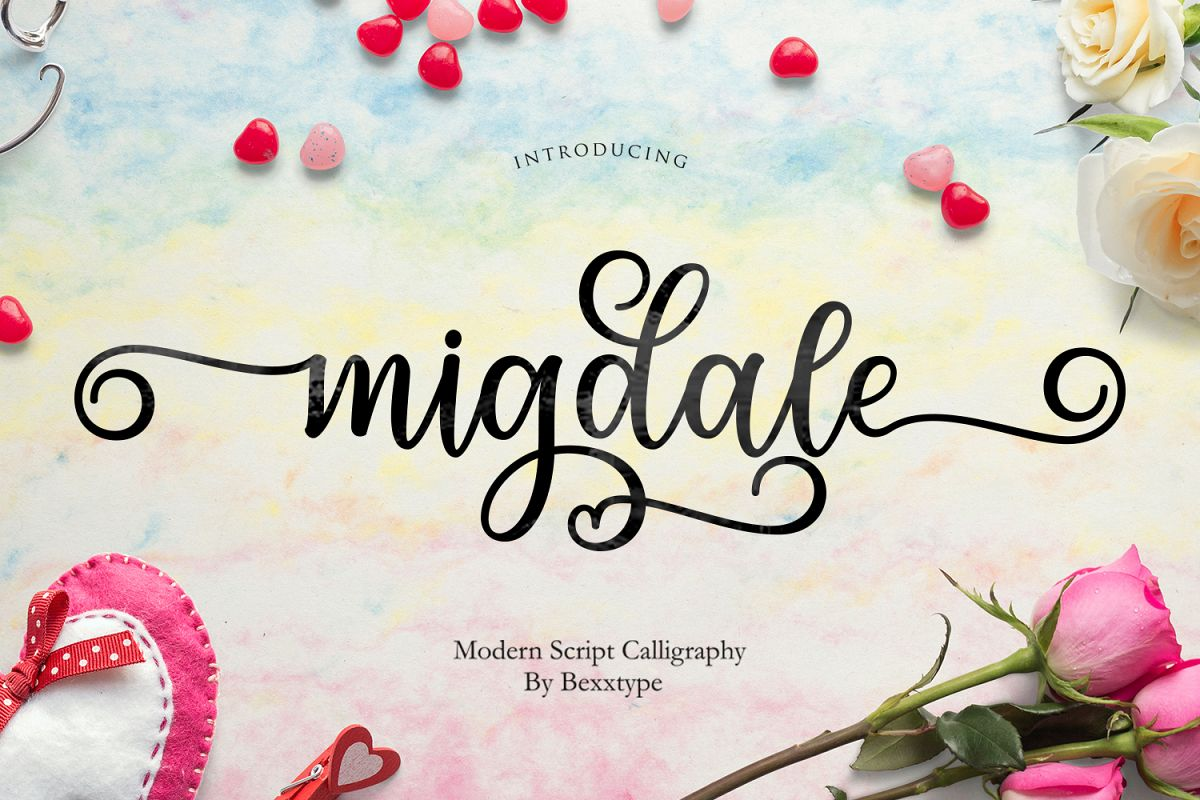 Migdale Script || Love Font example image 1