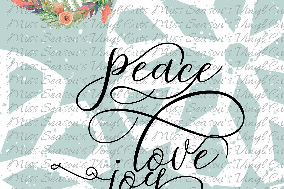Peace Love Joy Svg example image 1