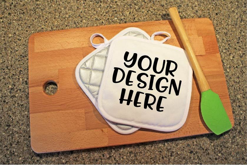 Pot Holder Mock Up Mockup example image 1