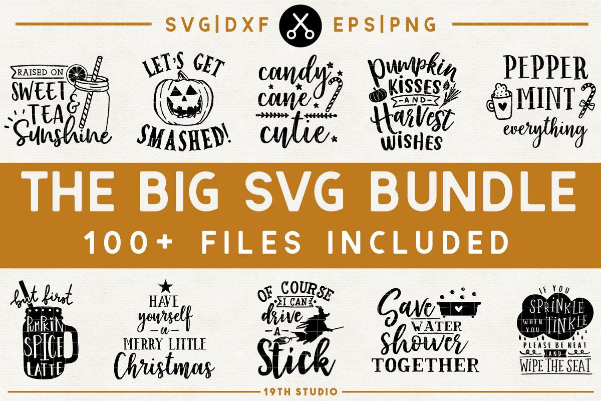 SVG Bundle - The Big SVG Bundle| SVG DXF EPS PNG example image 1