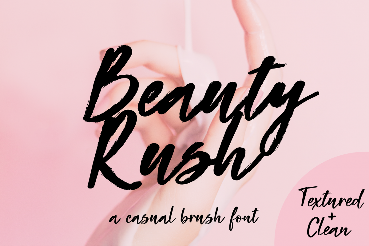Beauty Rush Font Set example image 1