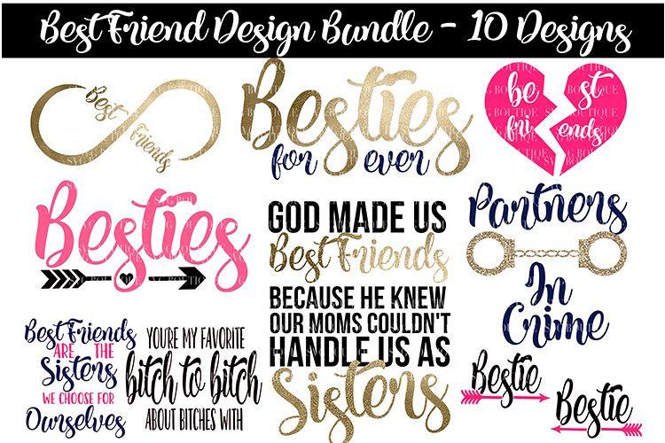 Best Friend Svg Bundle Best Friend Quotes Svg Png Dfx