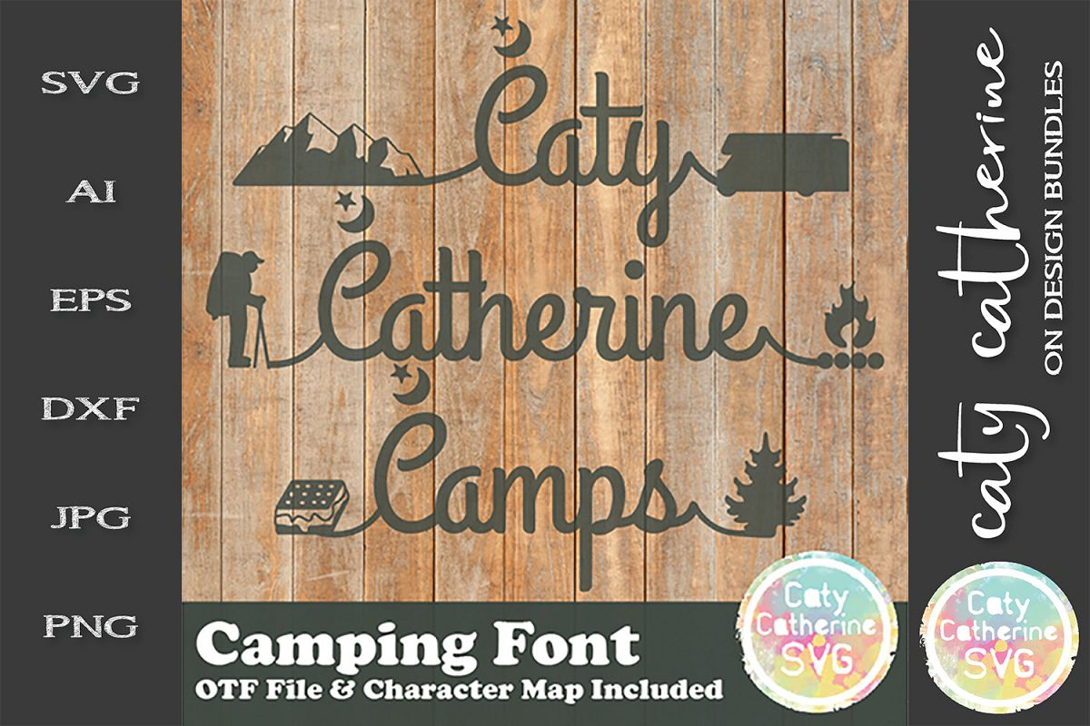 Camping Font Caty Catherine OTF Font example image 1