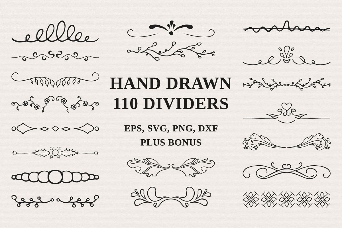 110 Hand drawn Dividers example image 1