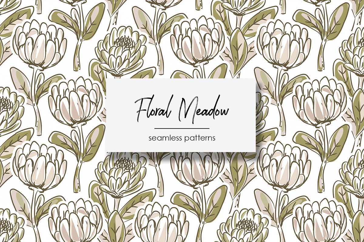Floral Meadow - Seamless Patterns example image 1