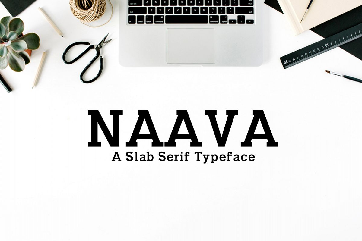 Naava A Slab Serif Typeface example image 1