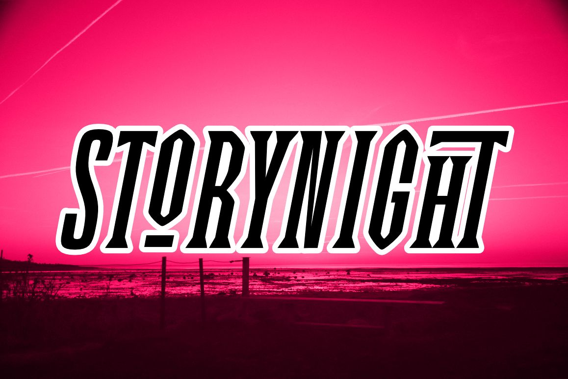 Story Night Font example image 1