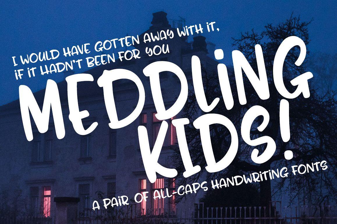 Meddling Kids - handwriting font