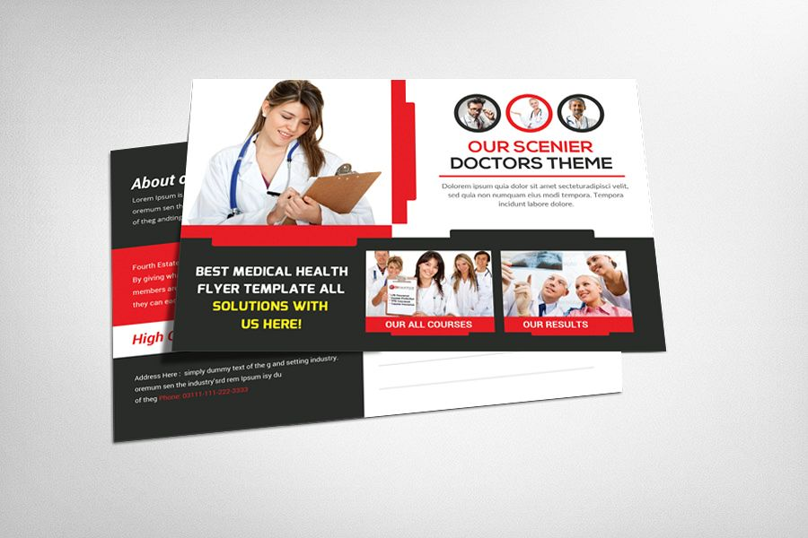 Medical Health Postcard Template example image 1