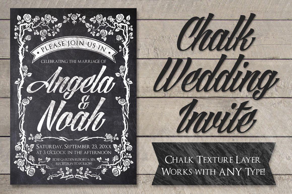 Chalkboard Wedding Invitations: Chalk Wedding Invite