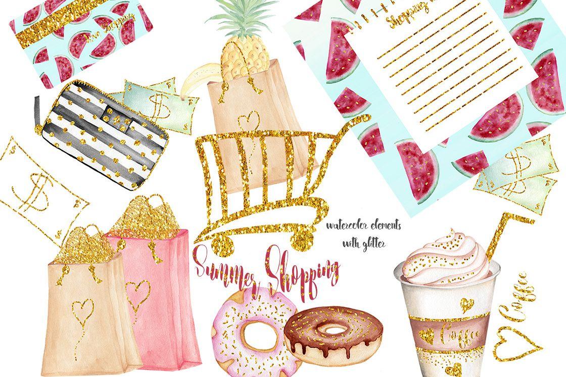 Summer Shopping illustrations example image 1