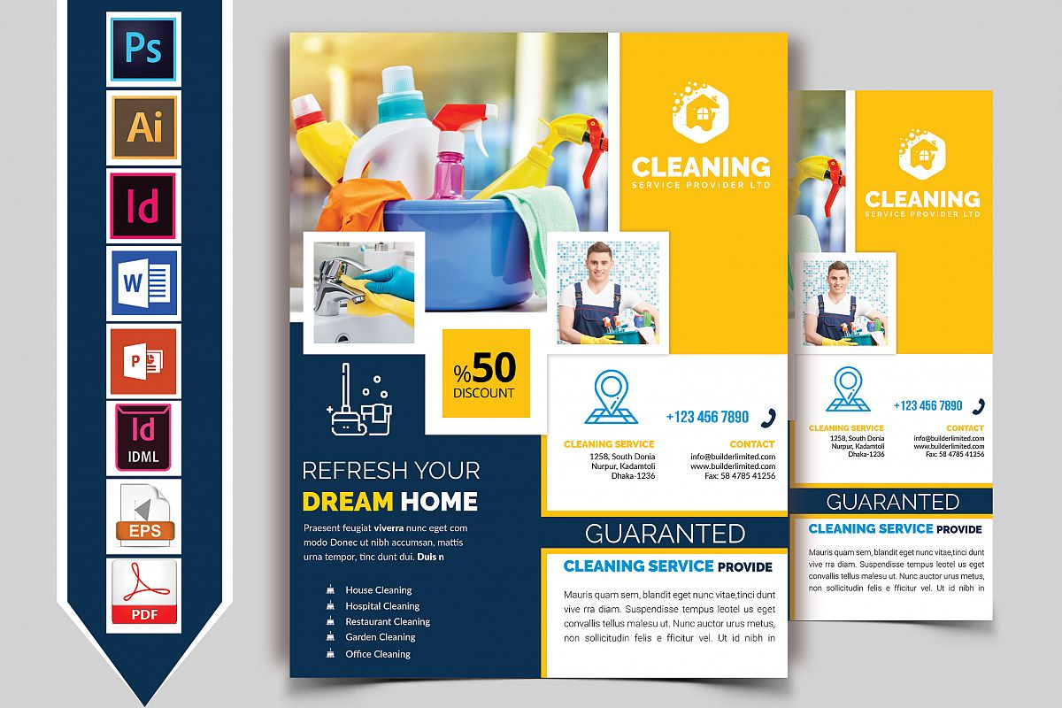Cleaning Service Flyer Vol-08 example image 1