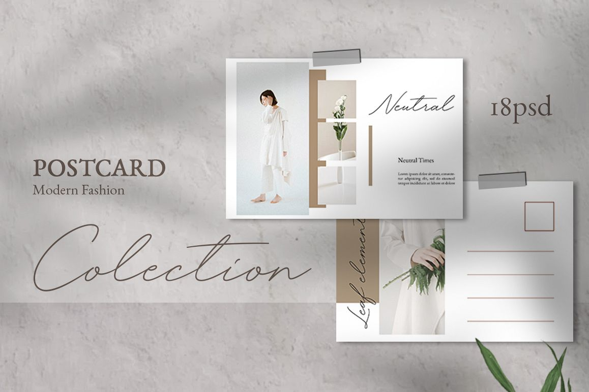 Neutral Postcard Templates example image 1