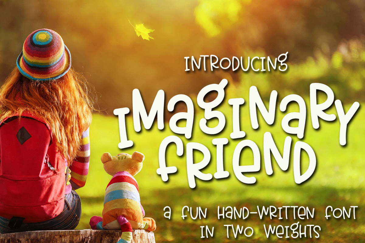 Imaginary Friend - A Fun Hand-Written Font in Two Weights example image 1