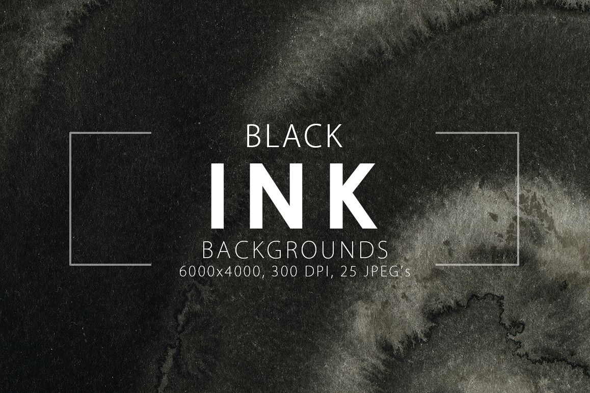 Black Ink Backgrounds Vol.1 example image 1
