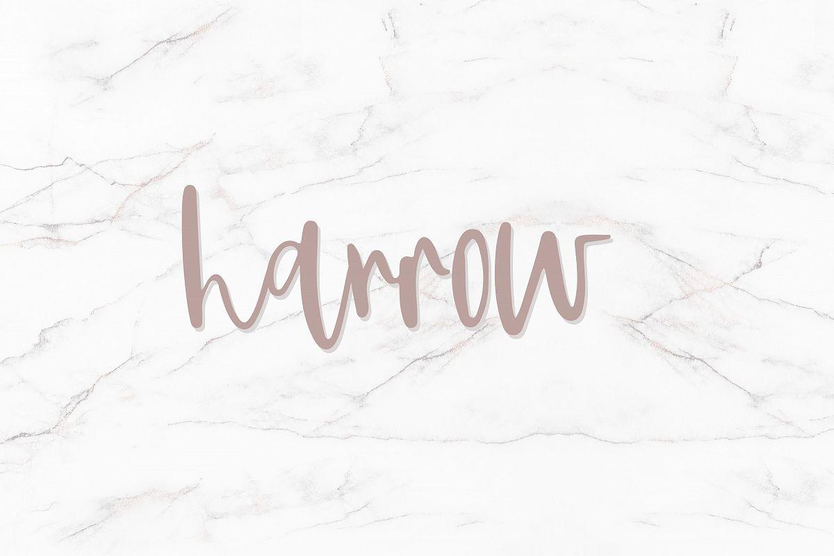 Harrow - Script Font example image 1