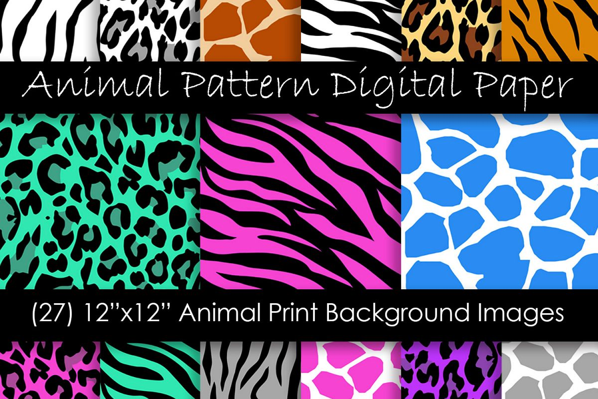 Animal Print Patterns - Zebra, Leopard, Tiger and Giraffe example image 1