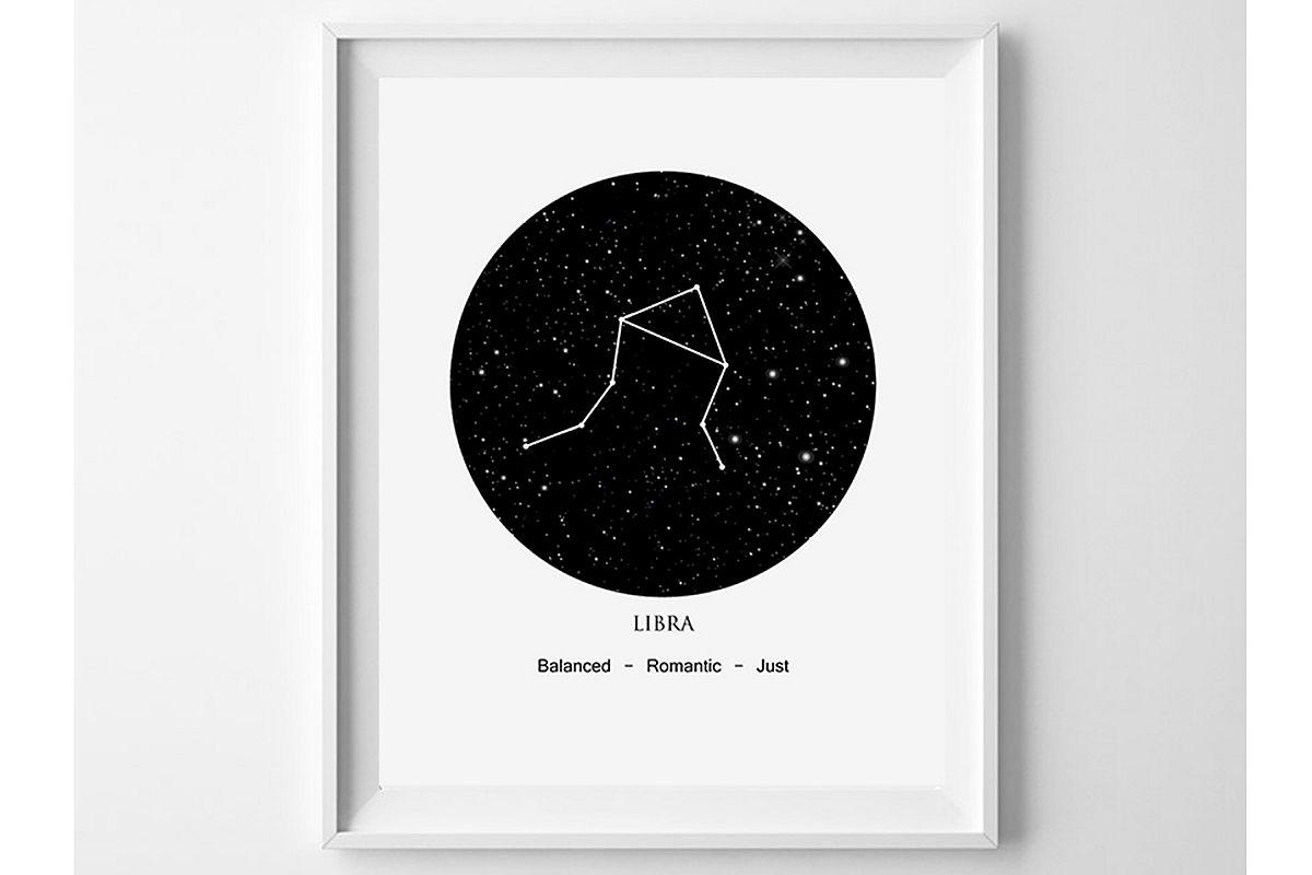 picture regarding Constellation Printable named Libra Artwork Print, Constellation Printable, Libra Presents