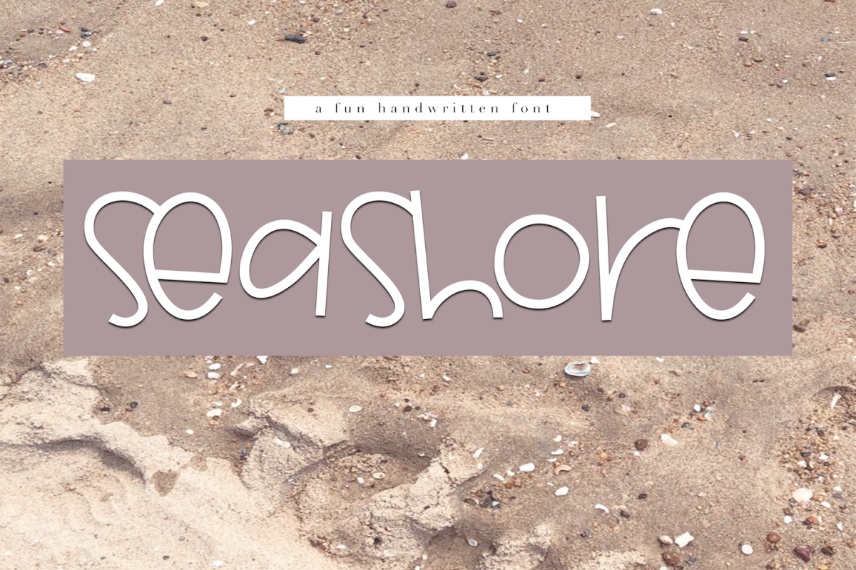 Seashore - A Fun Handwritten Font example image 1