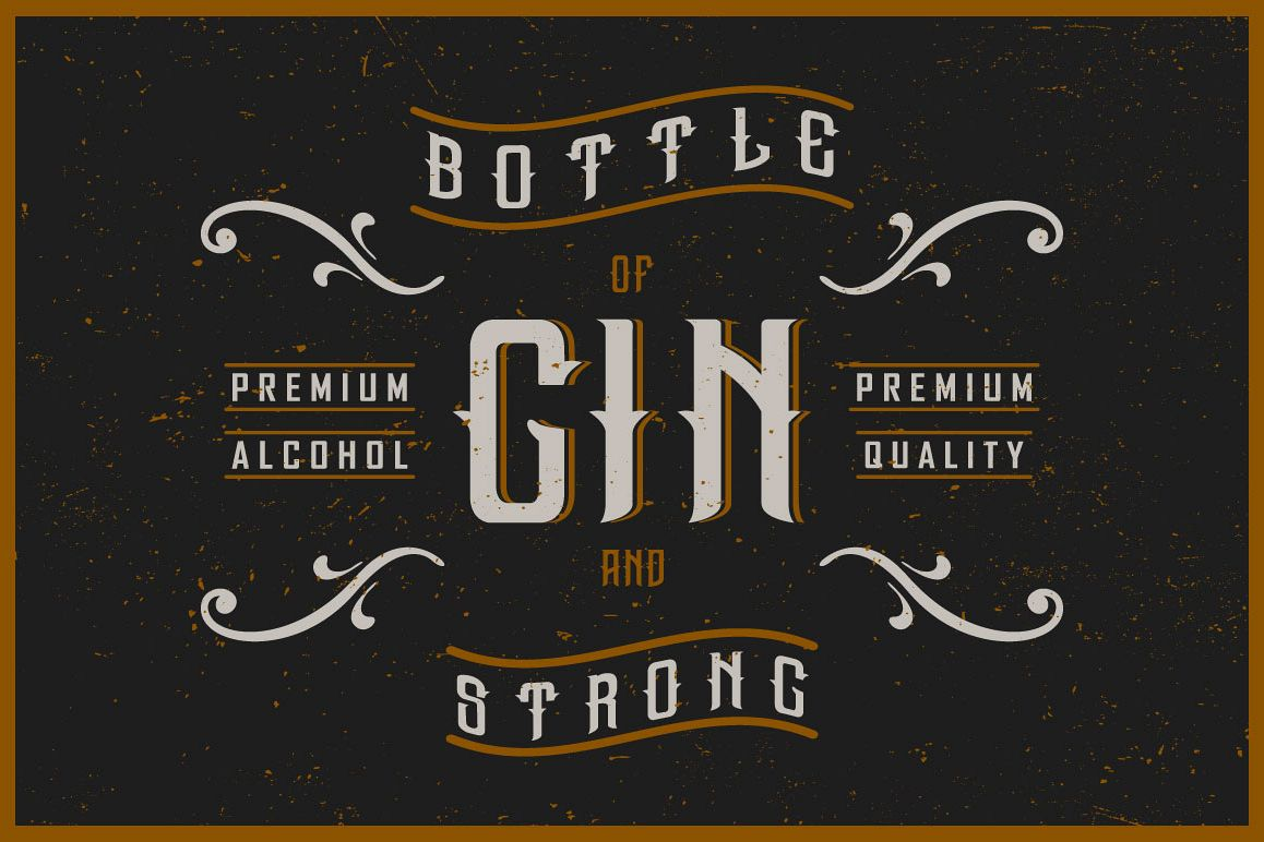 Gin handcrafted typeface example image 1
