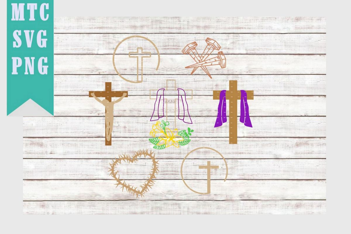 Easter Religion Bundle SVG Cut File example image 1
