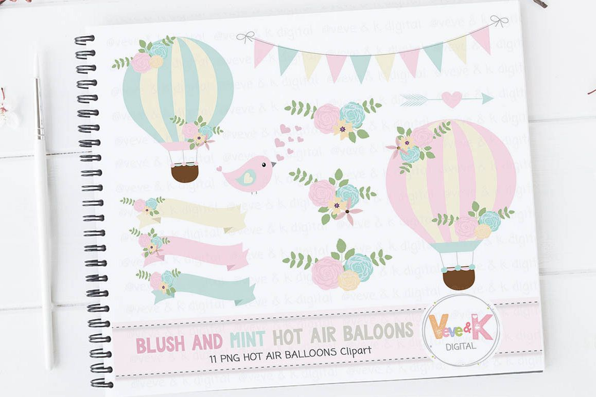 Hot air balloons clipart blush and mint hot air balloon clipart hot air balloons clipart blush and mint hot air balloon clipart wedding invitations clipart filmwisefo