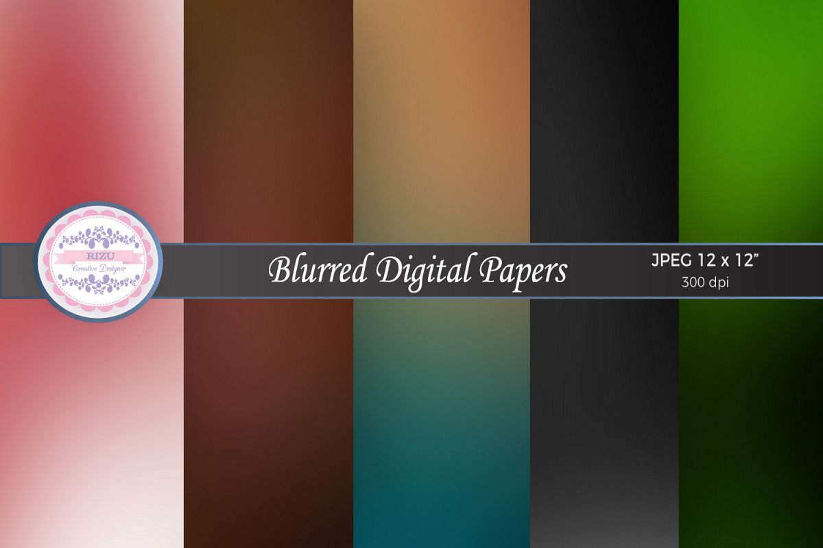 BLURRED DIGITAL PAPERS example image 1