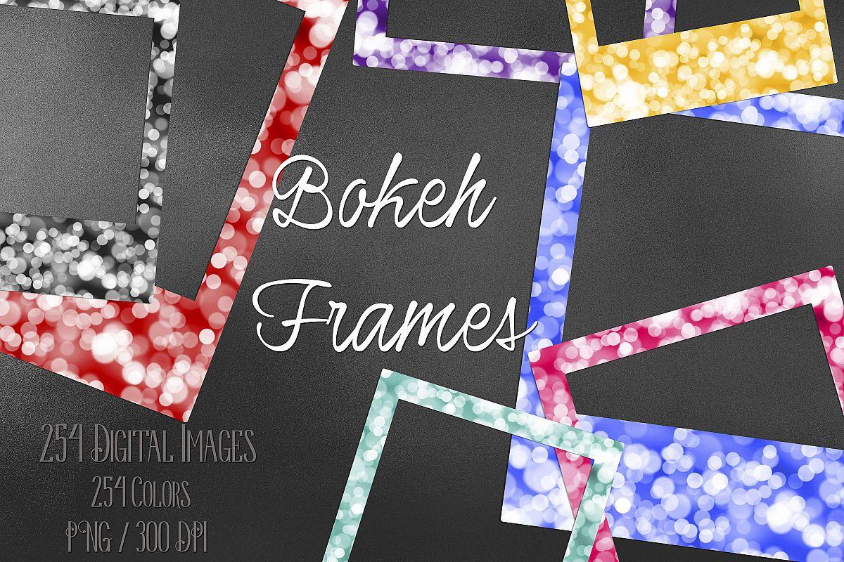 254 Bokeh Polaroid Bridal Shower Photo Booth Photo Frames example image 1