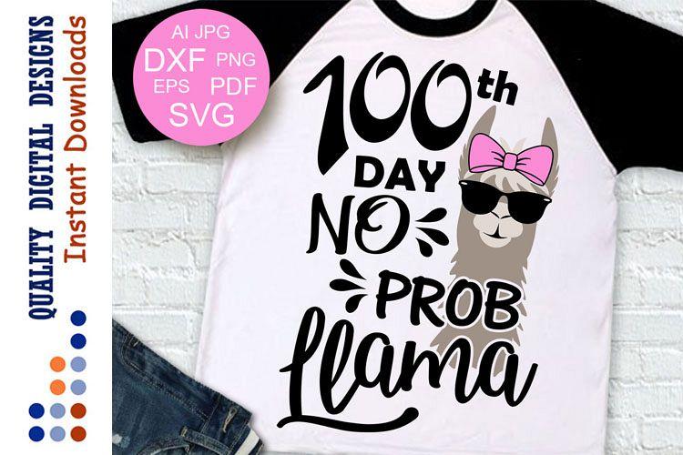 100th day no Prob Llama Cut file example image 1