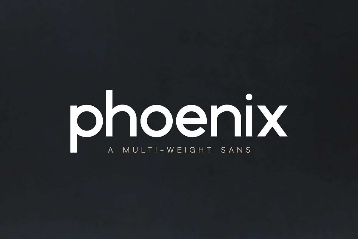 Phoenix | A Multi-Weight Sans example image 1