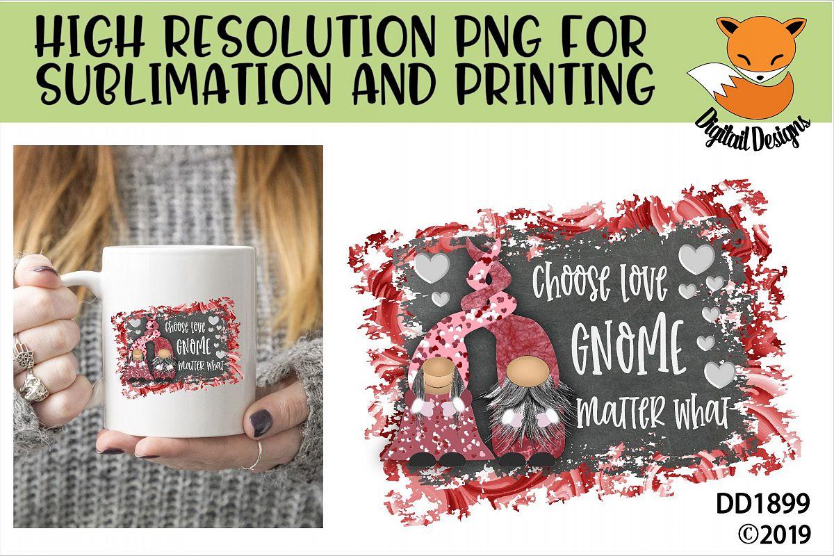 Valentine Nordic Gnome Sublimation Design example image 1