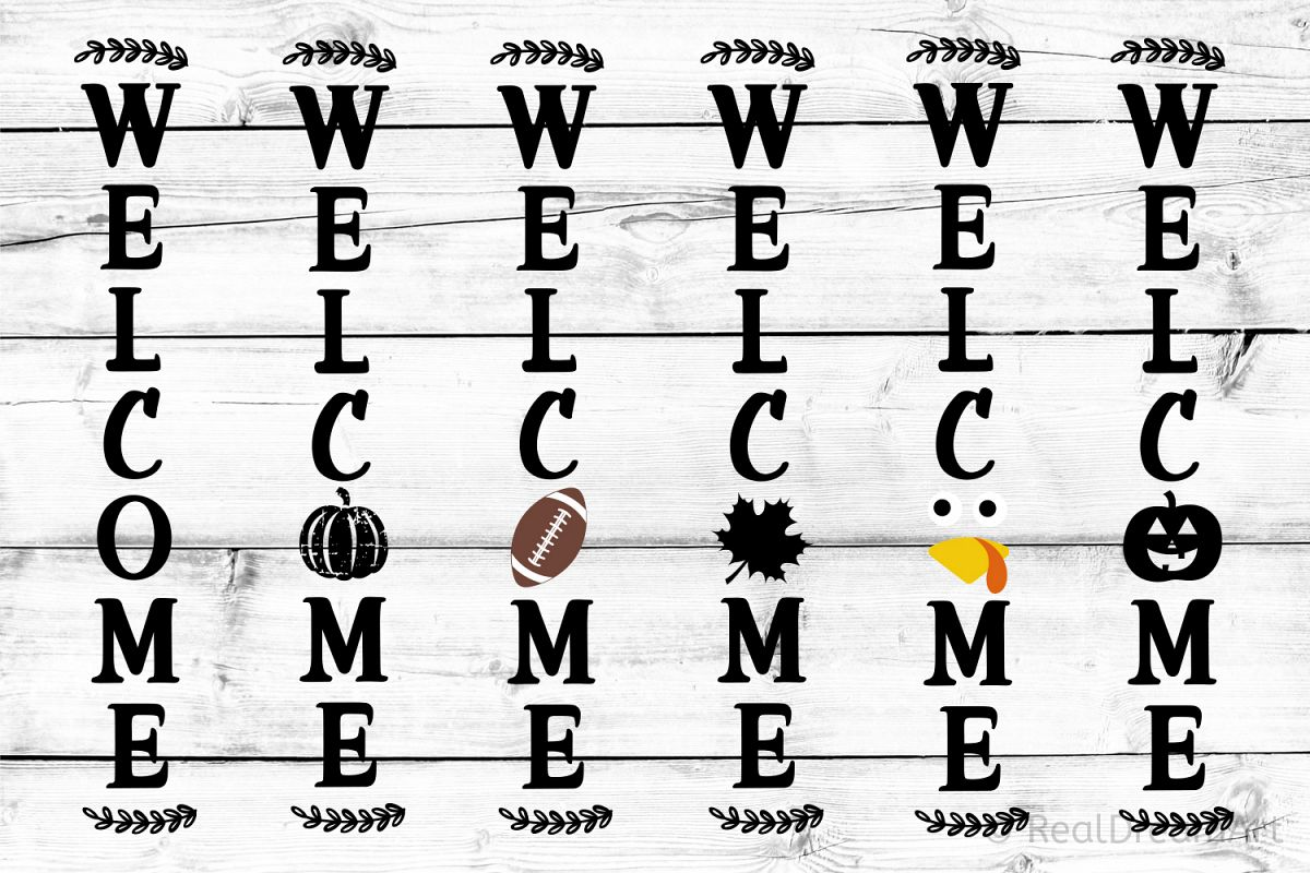 Welcome Porch Sign Bundle SVG, DXF, PNG, EPS example image 1