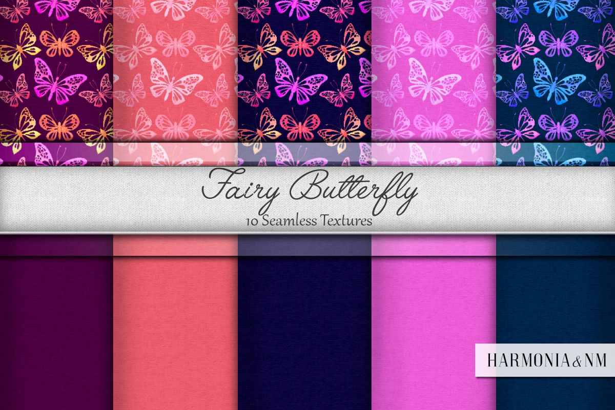 Fairy Butterfly 10 Seamless Textures
