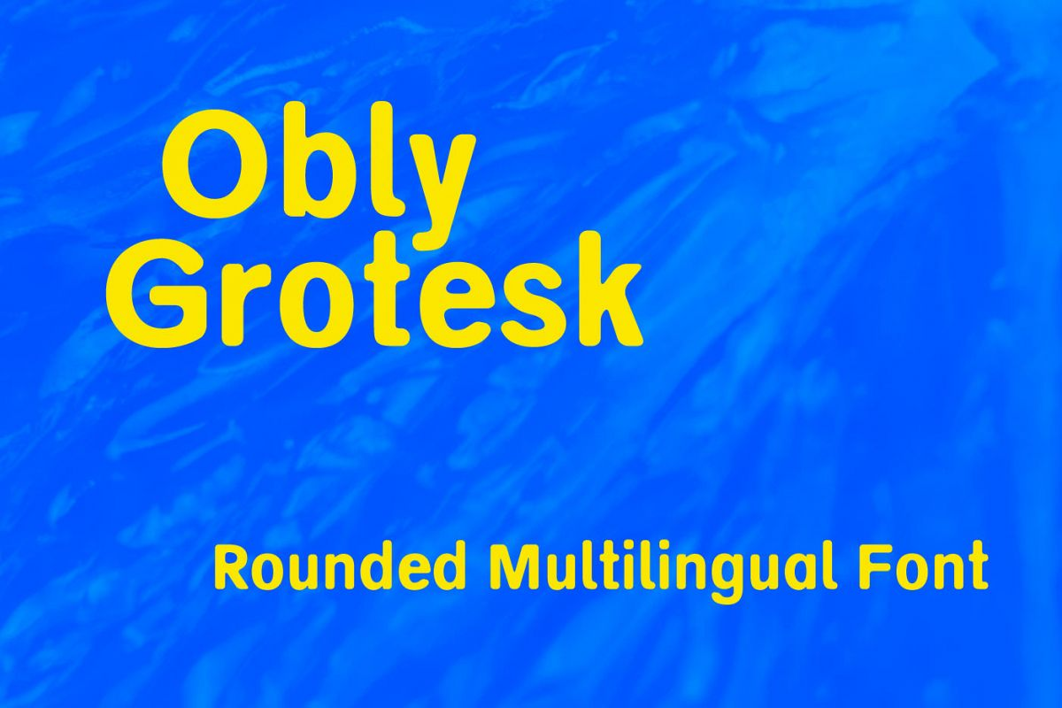 Obly Grotesk example image 1