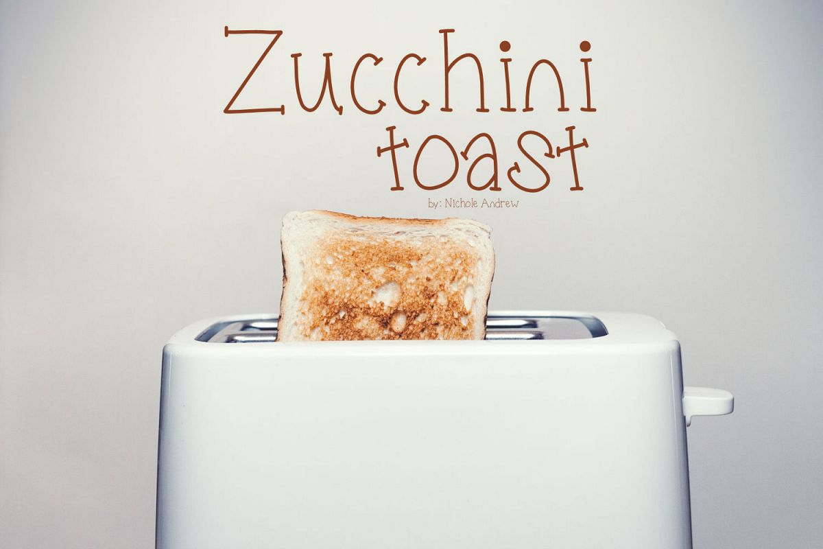 Zucchini Toast, A handwritten fun font with extras example image 1