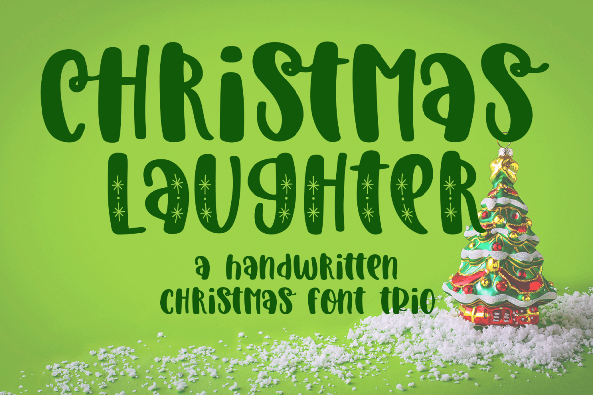 Christmas Laughter - A Holiday Hand-Written Font Trio example image 1