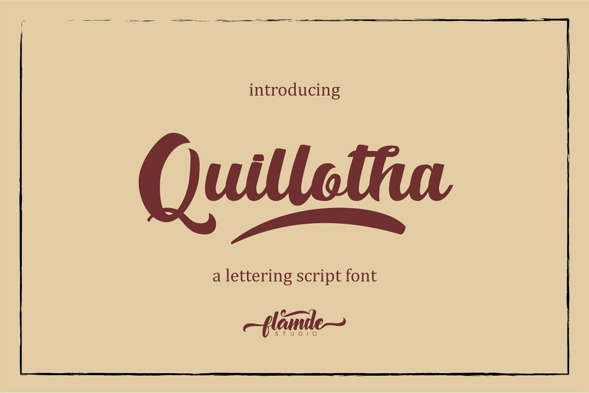 Quillotha - Script Font example image 1