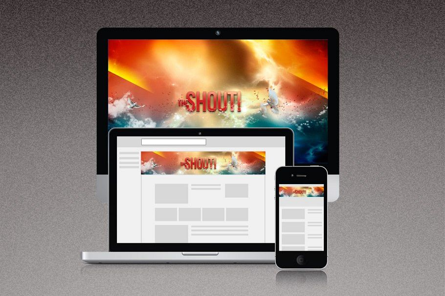 The Shout Youtube Channel Art example image 1