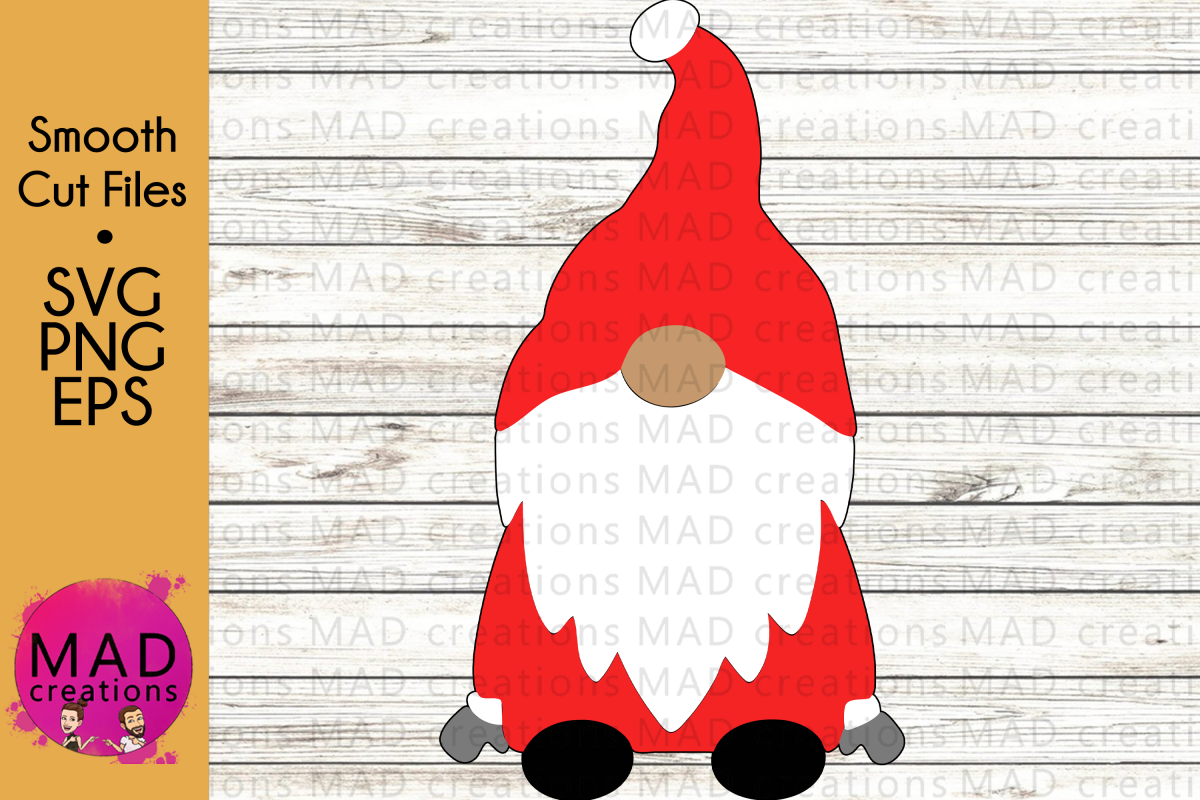 Santa Gnome - SVG PNG and EPS example image 1