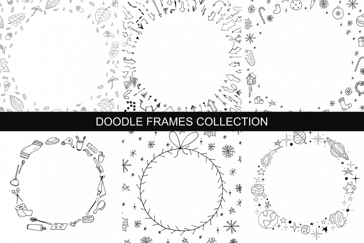 Hand drawn frames collection example image 1