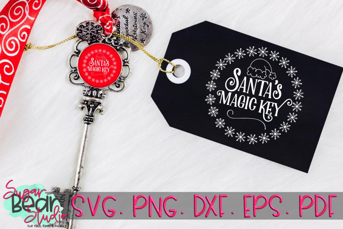 Santa's Magic Key - A Christmas SVG example image 1