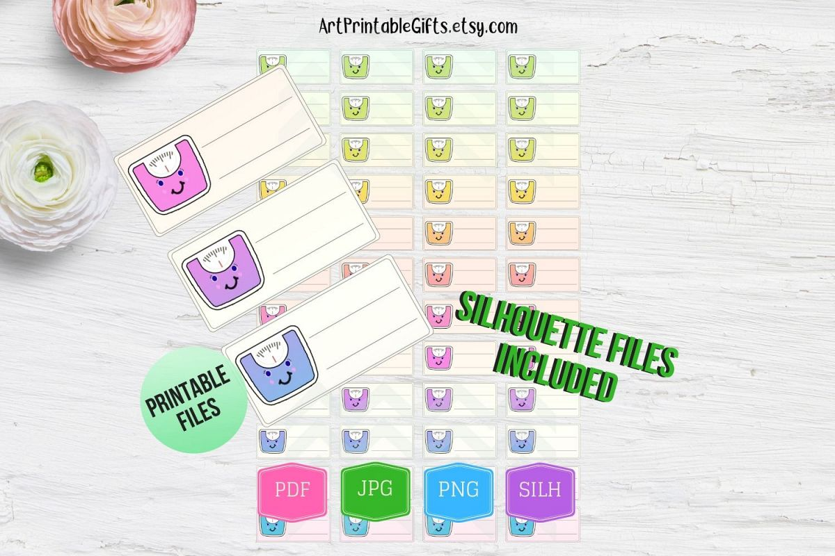 image relating to Weight Loss Tracker Printable called Scale stickers printable, Fat reduction tracker printable
