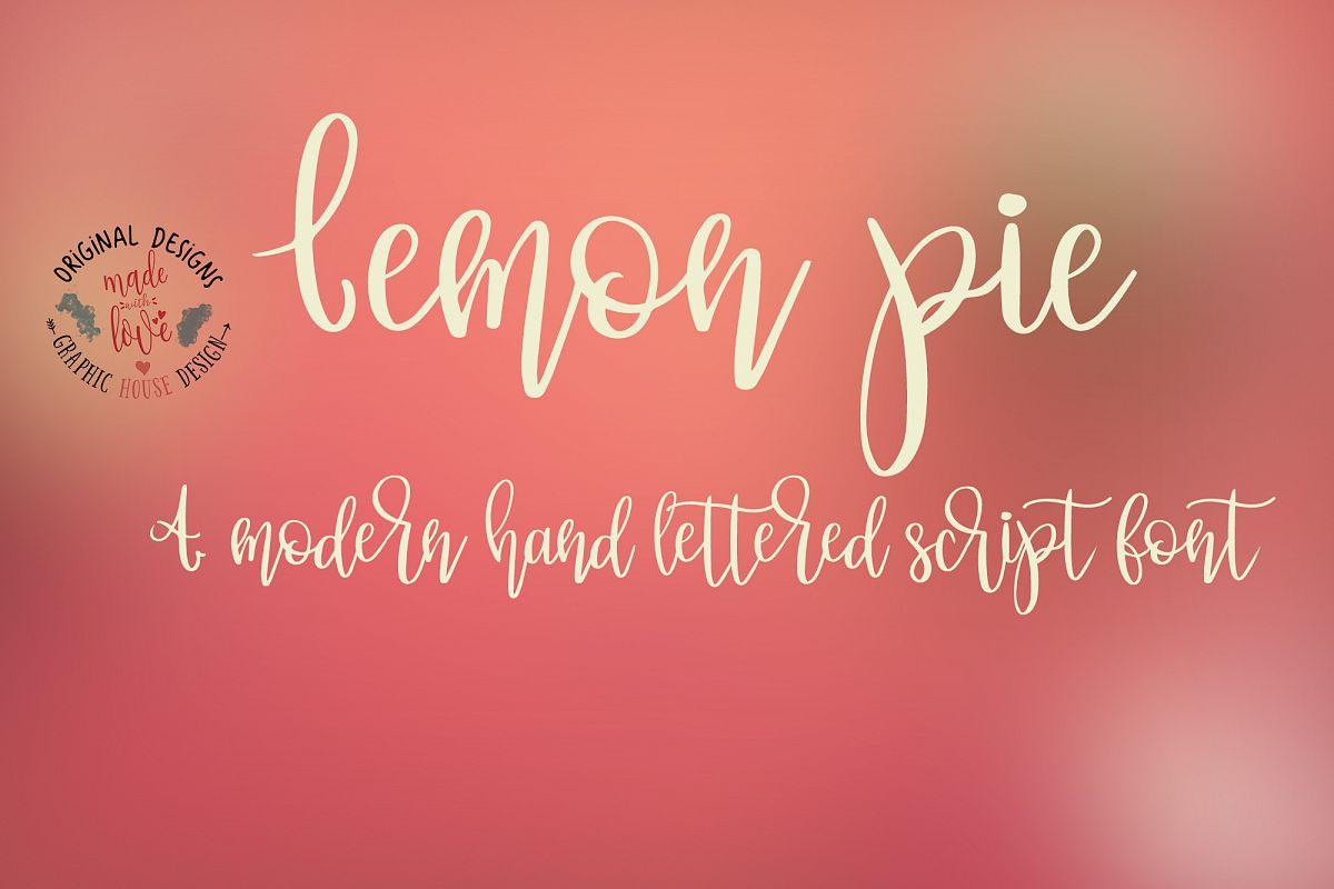 Lemon Pie Modern Hand Lettered Script Font example image 1