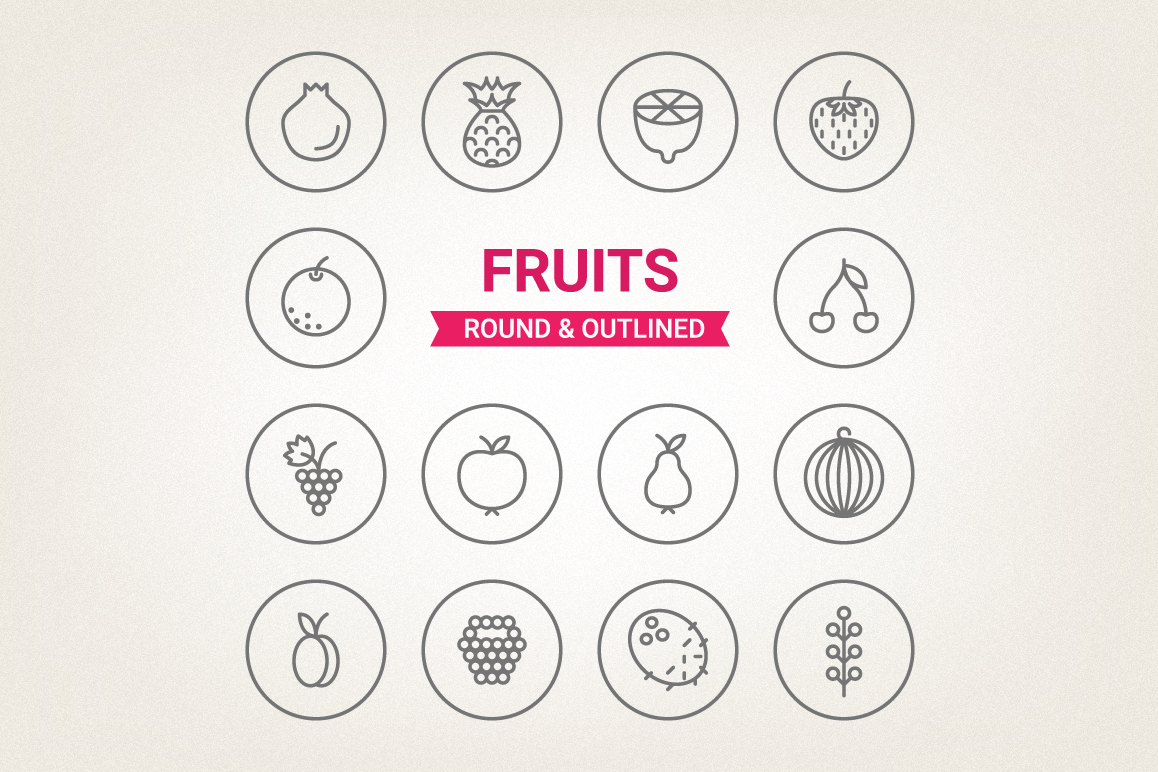 Circle Fruits Icons example image 1