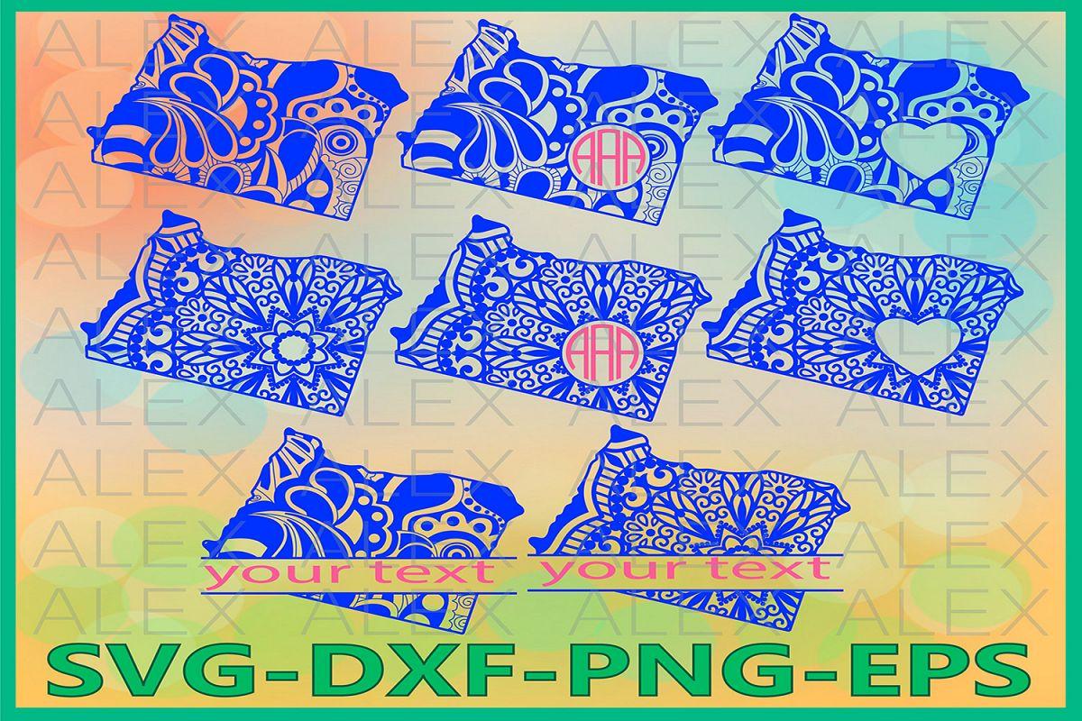 Oregon State SVG, Oregon Mandala SVG, Oregon Svg example image 1