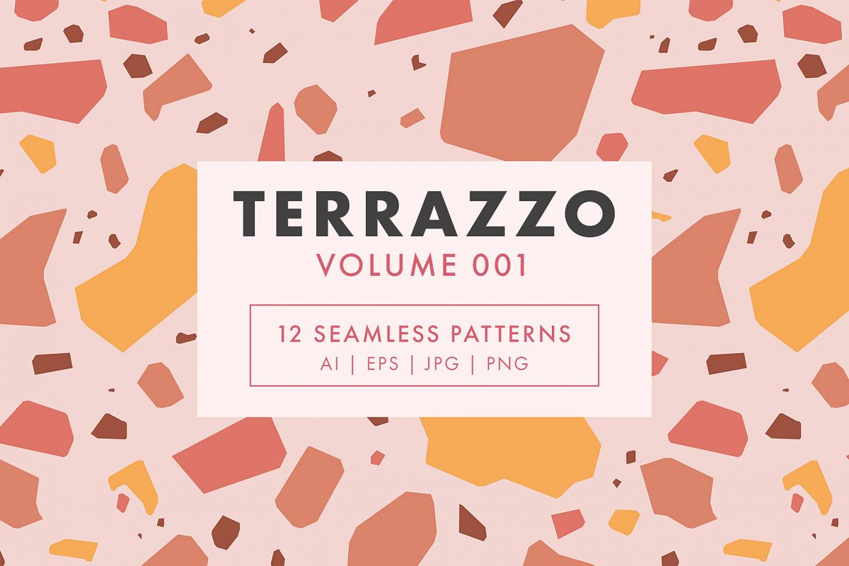 Terrazzo Seamless Patterns Vol. 001 example image 1