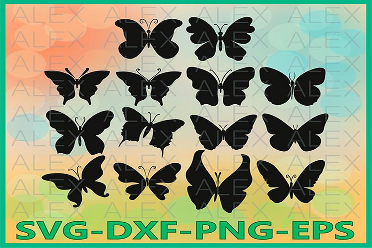Butterfly Svg, Butterfly Cut Files, Dxf example image 1