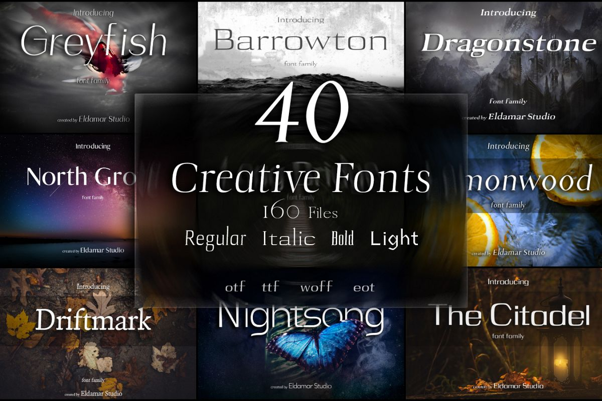 40 Creative Fonts example image 1